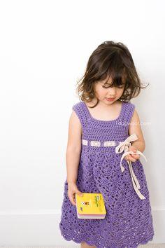 Adorable crochet purple princess dress   www.1dogwoof.com
