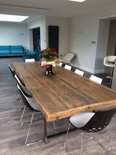 Reclaimed Wood Meeting / Boardroom Table by ReviveJoinery on Etsy