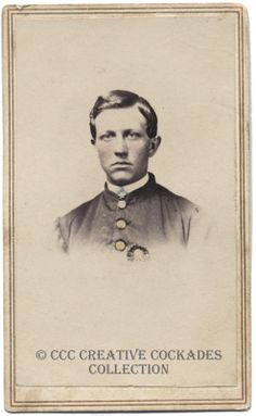 Southern soldier with a Secession Cockade