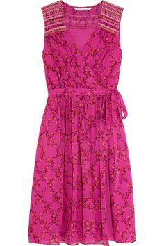 DIANE VON FURSTENBERG Bali Floral-Print Silk-Georgette Dress. #dianevonfurstenberg #cloth #dresses