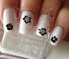 Flower Hibiscus Nail Art Nail Water Decals Transfers Wraps