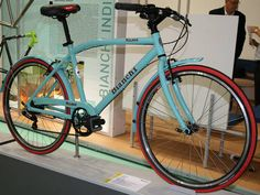 My beautiful new bicycle! A Bianchi Milano - in that famous celeste color!