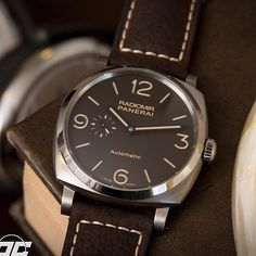 Radiomir 1940 3 Days Automatic Titanio watch - from the brand that always looked bold and classic. Image from @paneraicentral  #officinepanerai #radiomir1940 : Panerai. See this Instagram photo by @mywatchsquare • 63 likes