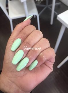 Like what you see⁉Follow me on Pinterest ✨: @joyceejoseph ~   Mint Green Coffin Nails