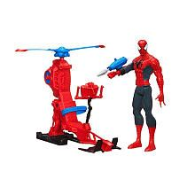 Marvel Ultimate Spider-Man Titan Hero Series Spider-Man Figure with Web Copter
