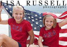 girls with american flag. #Sweet Home Alabama.  #Lake Guntersville.