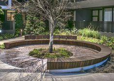 Custom Arc Seat @Harold Park by Mirvac NSW, Australia streetfurniture.com