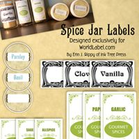Ink Tree Press: Art inspired by the wonder of childhood. Tons of gorgeous printable labels