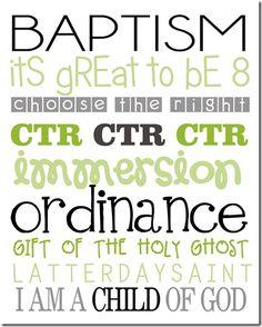 FREE Baptism Subway Art Download
