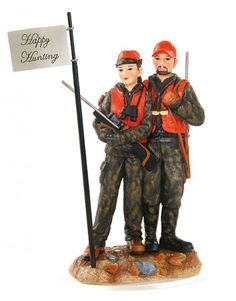 Deer Hunting Couple Cake Topper- found mine! :) Fits us to a T :)