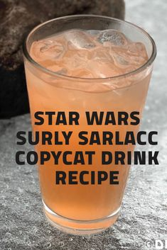 This Surly Sarlacc copycat recipe inspired by Disney World's Galaxy's Edge is a easy and scrumptious alcoholic drink to make back home! Disney Drinks, Disney Food, Disney Recipes, Alcoholic Drinks To Make, Alcohol Drink Recipes, Star Wars Wedding, Star Wars Party, Game Night Food, Star Wars Food