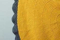 Crochet Rug Sunflower Close Up