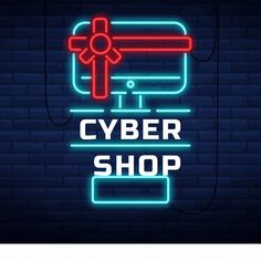 #ComputerShop #ComputerStore #ElectronicsStore #Computer #Freelancing #Freelancer #WorkFromHome #Homebased #FreelanceVirtualSpot Computer Shop, Cyber, Neon Signs