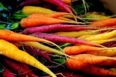 3.) Different colored carrots.