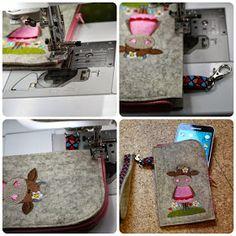 Mondbresal: Rums mit einer Anleitung: Handy-Reißverschluss-Tasche Slow Fashion, Lunch Box, Phone Cases, Crafts, Rv, Blog, Craft Ideas, Craft, Log Projects