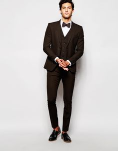 Bild 1 von Selected Homme – Hochwertiger, Ton-in-Ton karierter Anzug in enger Passform