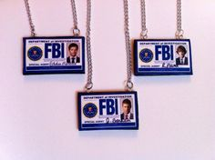 Supernatural FBI Badge Necklaces ! Choose between Castiel, Dean, and Sam !