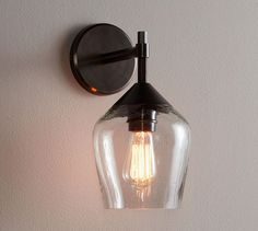 Donovan Glass Sconce | Pottery Barn