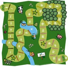 jeu de l'oie                                                                                                                                                                                 More Board Game Template, Printable Board Games, Educational Games, Learning Games, Fun Games For Kids, Activities For Kids, Board Game Themes, Homemade Board Games, Kids Origami