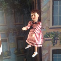 """Hazelle's Marionette 810-Penny (1953-76) is -- along with Dick and Sally -- one of the standard players of the Hazelle's """"Popular"""" line through three decades.  This one is exactly as she appears in the 1956 product brochure.  She is an upgrade to the one I have just like her in my collection.  Purchased June 23, 2015 online auction for $12.95 + $6.00 s&h."""