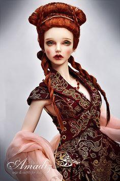 Sansa Stark wedding hairstyle natural angora wig for BJD Creepy, Weird Toys, Sansa Stark, Little Doll, Doll Hair, Cosplay, Barbie Dress, Bjd Dolls, Ball Jointed Dolls