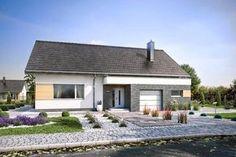 projekt Domena 114 A Teak, Pergola, Places, Outdoor Decor, Home Decor, Houses, Build House, Projects, Decoration Home