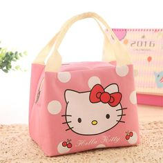 Cartoon Portable Insulated Canvas Lunch Bag Thermal Food Picnic Lunch Bags Cooler Lunch Box Bag Tote Food Carry Bag