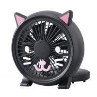 kawaii black cat table top fan