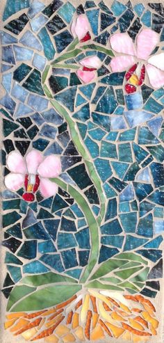 Orchids: Stained Glass Mosaic Art by MaitriMosaics on Etsy
