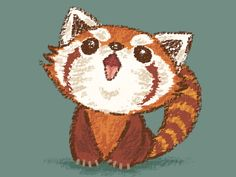 Red Panda Happy by Toru Sanogawa