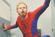 MITCHELL AS SPIDER-MAN.  Modern Family