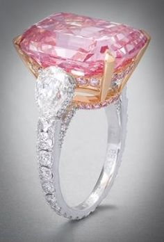 Graff pink diamond ring 46 million, once owned by Harry Winston.