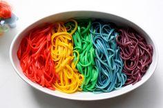 Rainbow Pasta - Magical Rainbow Foods Straight From A Unicorn Wonderland - Photos