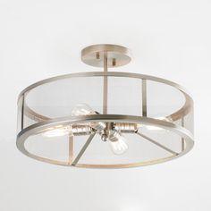 Mesh Industrial Semi Flush Mount Ceiling Light - Shades of Light