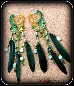#macrame #earrings #dreamcatchers #handmade #boho #hippie #wild <3