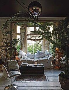Informal living room. Chocolate Towers. Sera of London