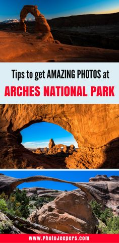 Arches National Park has so many unique landscapes just waiting for you to photograph. We will tell you our secrets to get amazing pictures of the arches in the park and when to visit each one. We give an in depth guide to each stop in the park and tell you the best angles to take pictures of the arch from. This is one photography guide you do not want to miss! Don't forget to save these photography tips for Arches National Park to your photography board!