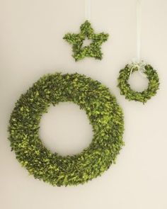 Preserved Boxwood Wreath contemporary holiday outdoor decorations