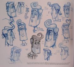 """andybialk:  'Manolo' face & hair explorations in the Art Of """"The Book Of Life"""" book. Jorge R Gutierrez designed 'Manolo'. I got to play with it! So fun! Great film!"""