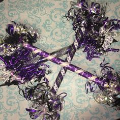 Looking for an the over the top and One of a Kind (OOAK) spirit stick for your squad? These also make a perfect spirit award for the year end banquet too! Any color combo available and will be customized with your school colors. I LVE when the possibilities because that means theres something for everyone!! Message me to help you create a Ewe-Nique spirit stick of your own!!  *Discounts available for multiple orders*
