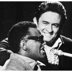 Ray Charles and Johnny Cash