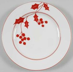 Holly Silhouette by Lenox China is such a pretty pattern for the Christmas table.