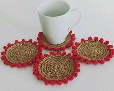 Crochet coasters ShopCreativelySA on Etsy No Response, Etsy Seller, Handmade Gifts, Coasters, Crochet, Shop, Kid Craft Gifts, Handcrafted Gifts, Coaster