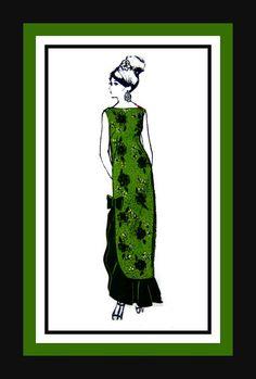 Vintage 1960s Island Princess Kapakahi by FarfallaDesignStudio, $16.00