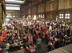 'IJhallen' is a flea market in a large hangar in the north of Amsterdam. It's the biggest flea market of Europe. It's very popular among young people. Held every first weekend of the month. Tip: Come very early (t.t. neveritaweg 15) http://www.ijhallen.nl/