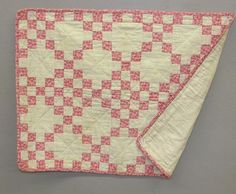 One of FOUR ANTIQUE DOLL QUILTS. Two pink and cream Four P : Lot 99, Live Auctioneers