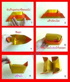 วิธีการพับกระดาษเงินกระดาษทอง ( ค้อซีหรือตั่วกิม) แบบต่างๆ