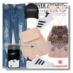 """""""Snapmade!"""" by dianagrigoryan ❤ liked on Polyvore featuring Topshop, Samsung, New Look and Illesteva"""