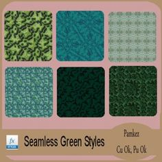Seamless Green Patterned Styles [Pamkez] - $1.05 : Rockin Scrapz
