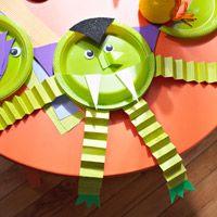 Halloween Craft: Plate Monster